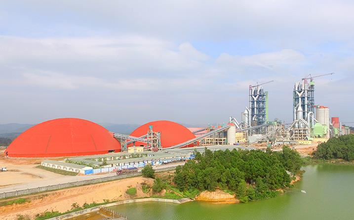 越南藍河2×6000t/d水泥生產線總承包及2x7MW余熱發電工程
