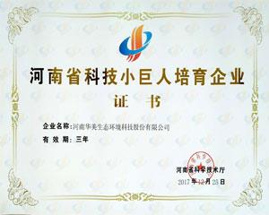 河南省科技小巨人培育企业