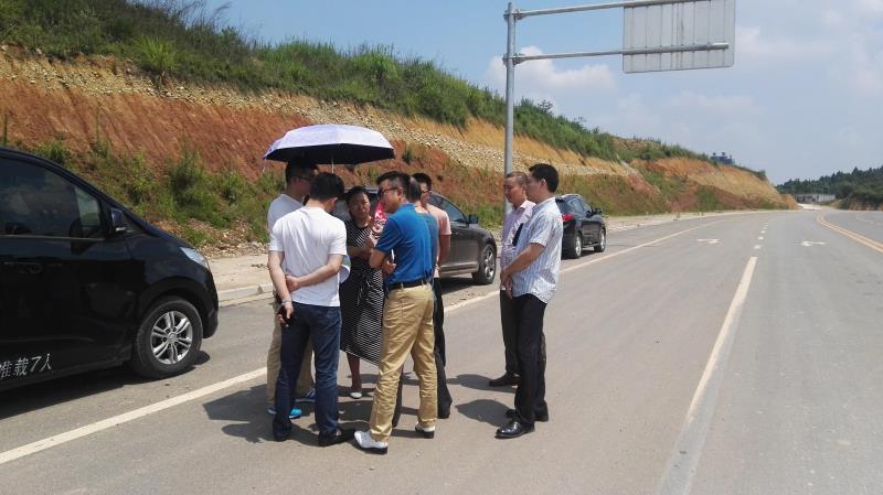 2017年8月公司刘董事长到四川遂宁视察_园区污水处理项目