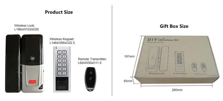 433MHz Wireless door lock - standalone control - S4A