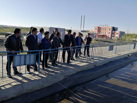乌兰察布市于海宇副市长视察 商都奥福中水、污水处理厂