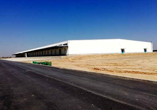建设中的兰州乐虎国际娱乐app西北金属仓储物流园