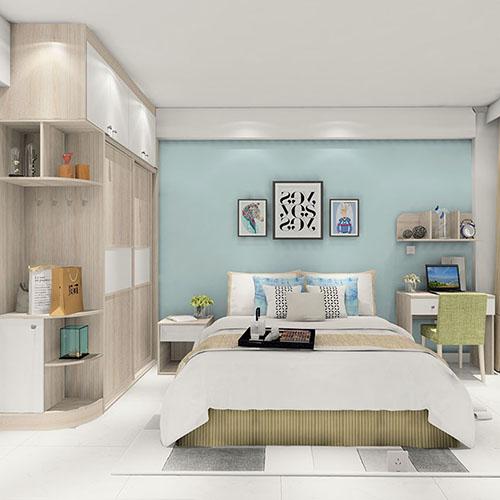 北歐風簡約臥室衣櫃效果圖 幹淨整潔