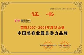 中国美容业最具潜力品牌