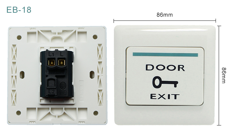 Plastic access Exit Button