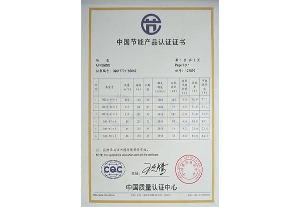 多級泵節能證書3