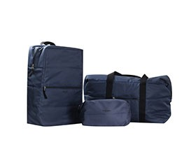 backpack duffle and toilet bag set of 3