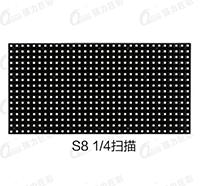 户外表贴S8 4扫全彩LED显示屏