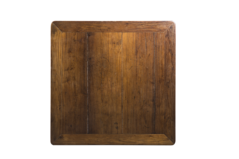 明 黄花梨双圈卡子花文房桌