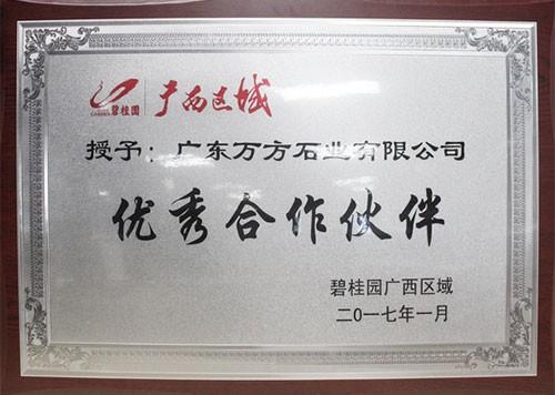 2017年度优秀合作伙伴-碧桂园集团广西区域