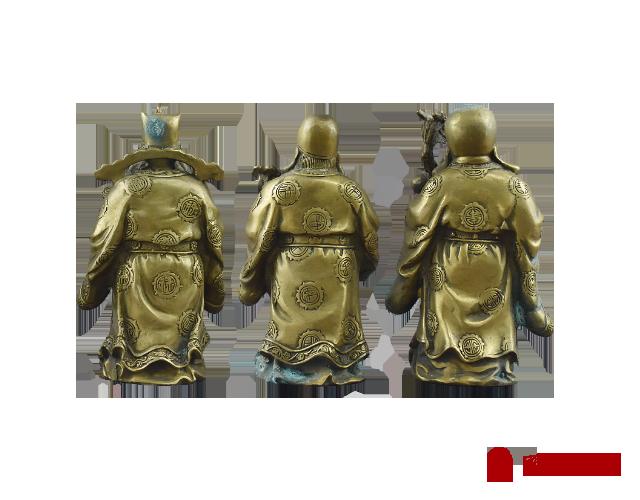 福禄寿铜像