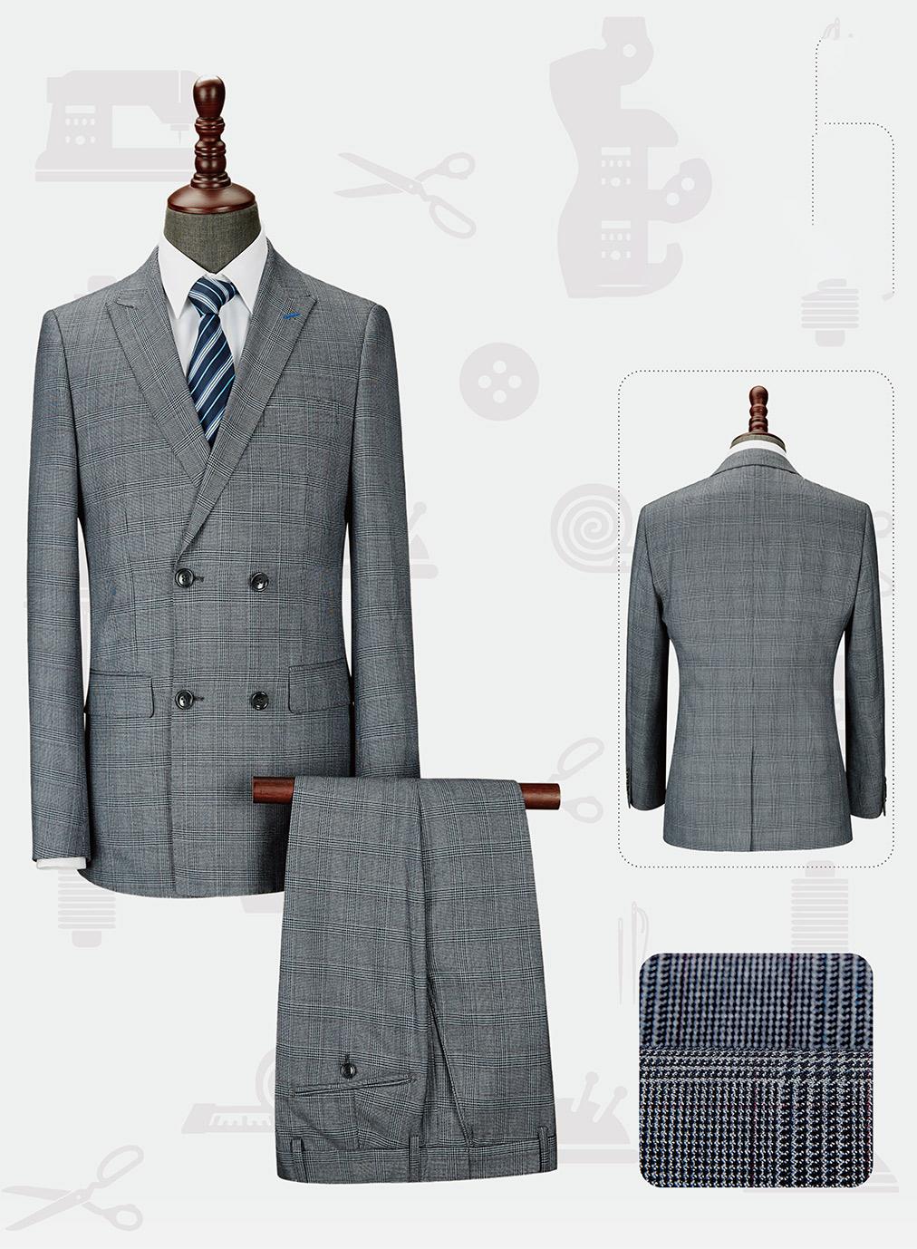男韩版西服套装-LX-1098(样衣定制款)