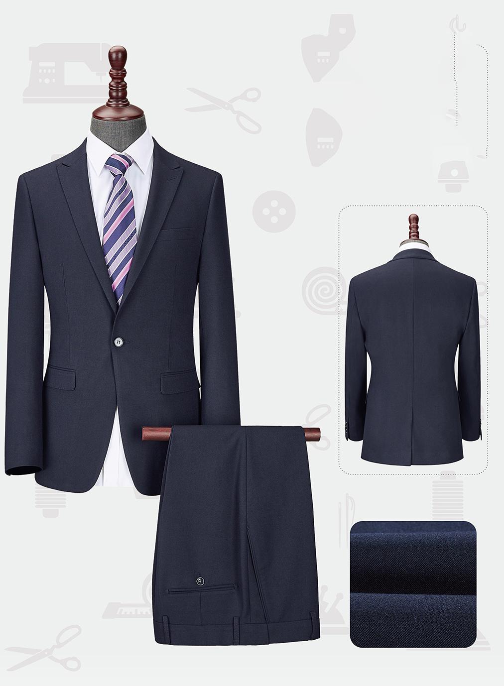 男韩版西服套装-LX-1238(样衣定制款)
