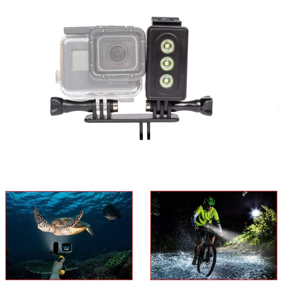 Underwater Light for GoPro 30m Waterproof Sidekick Side LED Flash Spot Flood Lighting Camera Accessories - For Dive Diving Scuba - For Go Pro Hero 2 3 3+ 4 5