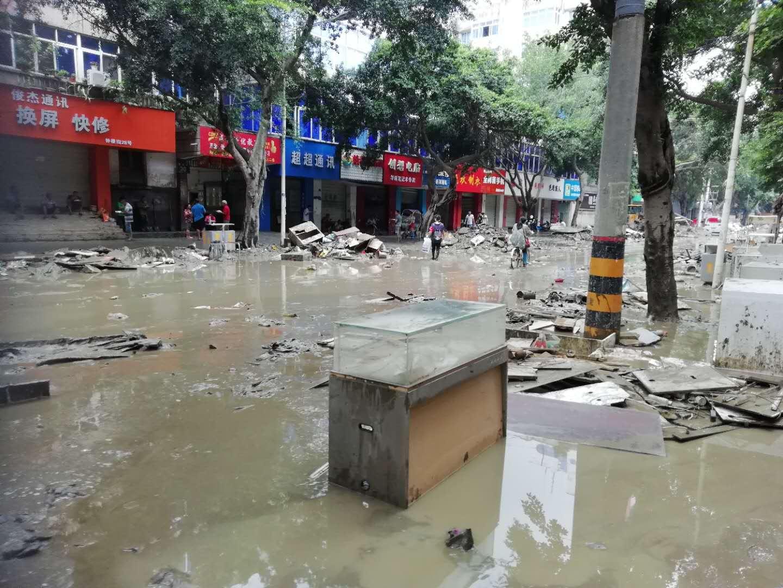 抗洪救灾,电子院中电投检测中心在行动