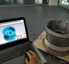 飞机轮胎、轮毂三维扫描方案