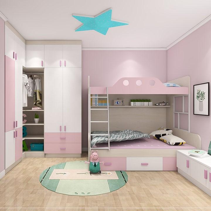 粉嫩公主房 女孩的梦想居室 上下床设计