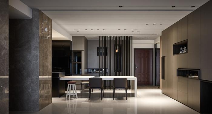 高级灰室内设计里,木饰面设计搭配怎样更高级?