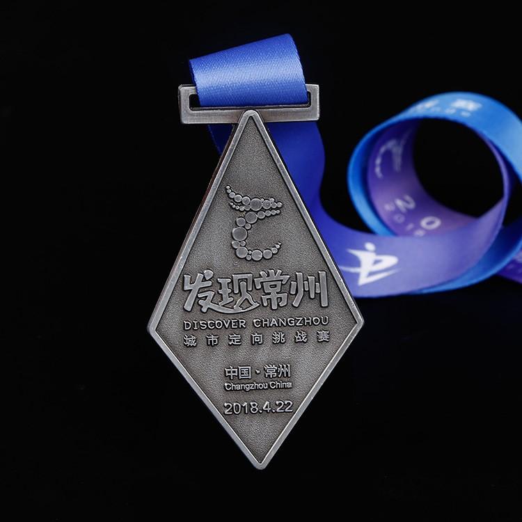 供应烤漆金属奖牌定做 企业周年庆活动奖章 城市马拉松奖牌定制