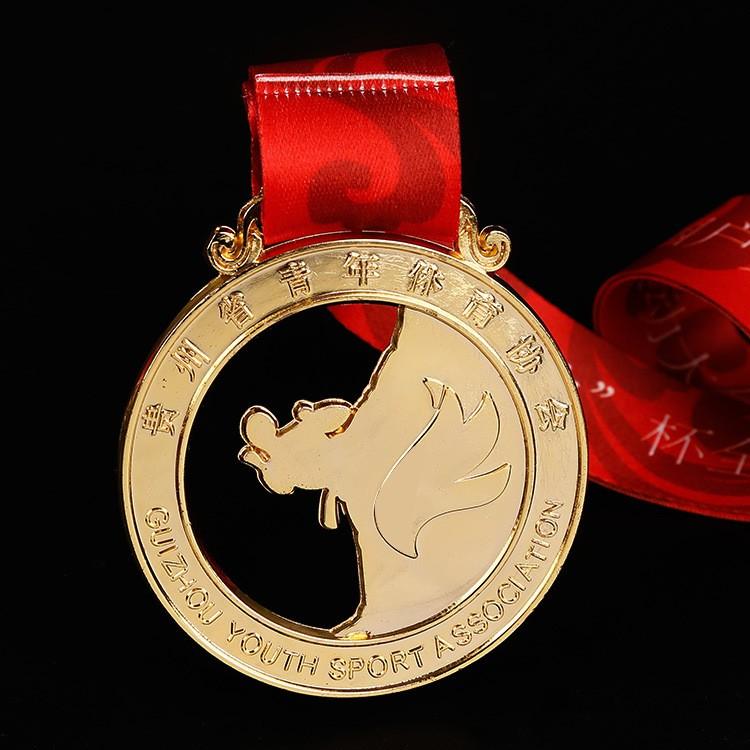 厂家直销电镀烤漆奖章 企业活动金属奖章 协会运动比赛奖牌定制