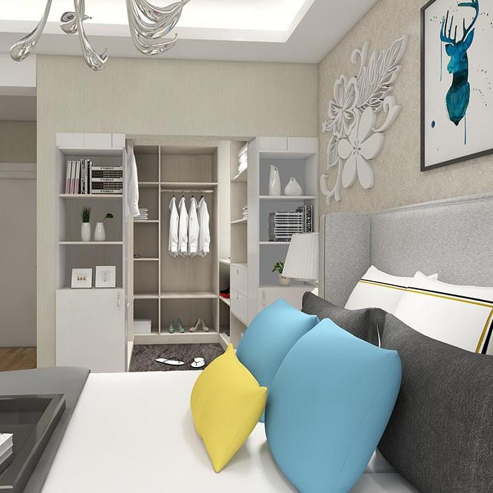 卧室衣帽间设计 转角利用 大气卧室效果图