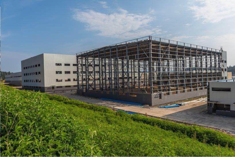 昆明南亚陆港亚博app下载苹果安装亚博体育iOS标准厂房施工接近尾声