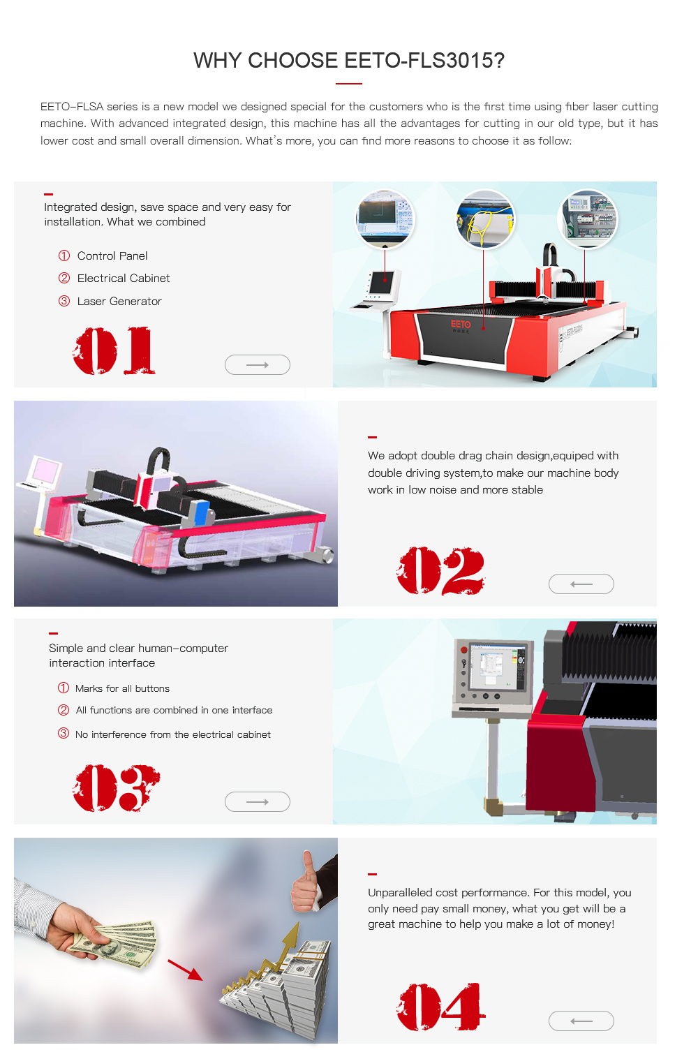 Economical Fiber Laser Cutting Machine Wuhan Eeto Low Cost Noise Generator Fls Series