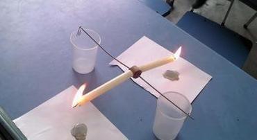 玩蜡烛跷跷板