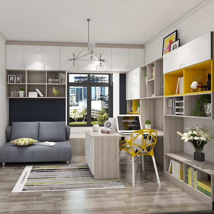 都驰全屋定制 超多储物空间的书房 既能工作,又满足储物,一房多用