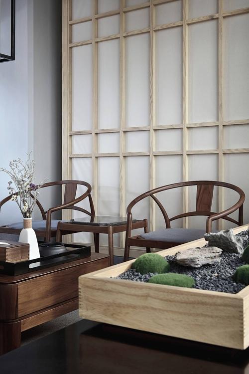 中式茶室接待家具,仔细看放在哪里都可以用。