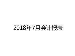 2018年7月会计报表