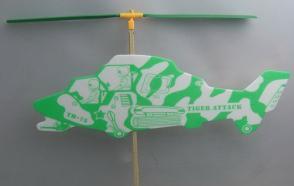 制作橡筋动力直升机