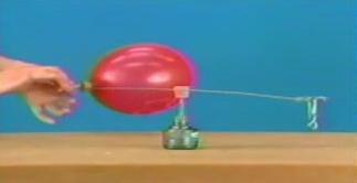 气球转动杠杆