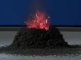 模拟火山爆发