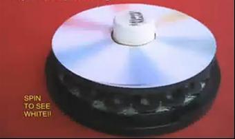 悬浮的CD色轮