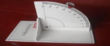 自制太阳高度测量器