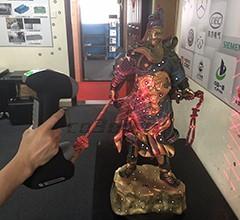 """铜塑雕像""""关公""""三维扫描案例"""