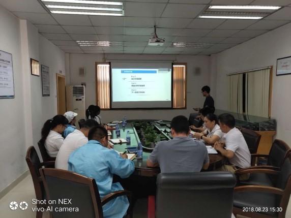 【咨询动态】深圳某科技公司2018年精益生产项目第一阶段评审会