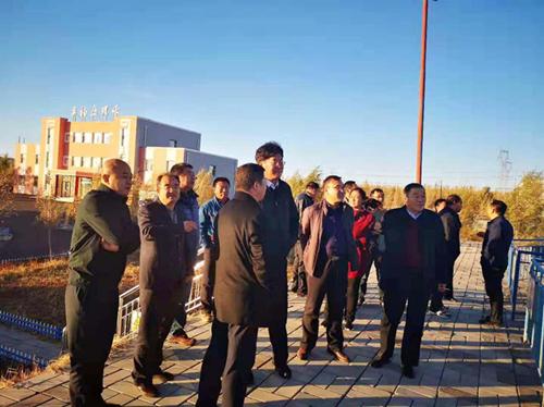 内蒙古林业厅娄伯君副厅长视察奥福污水厂
