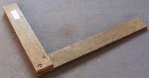 自制木质角尺