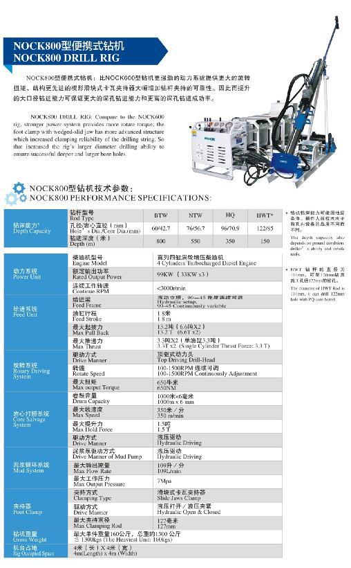 ROCK-800型全液压便携式钻机