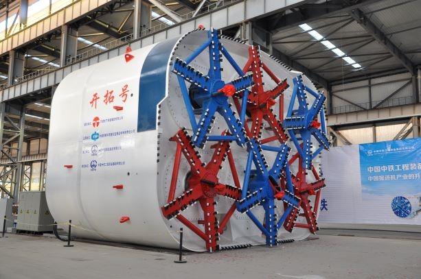 世界最大矩形盾构式顶管机