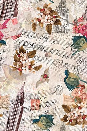跳动音符古典欧美花型