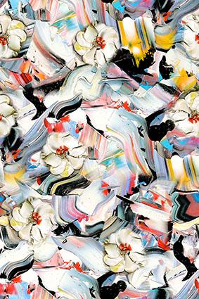 水彩布匹装饰潮流花型