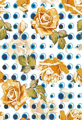 瞳孔眼睛矢量怀旧花朵