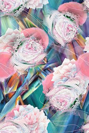 蛋糕花卉牡丹抽象花饰