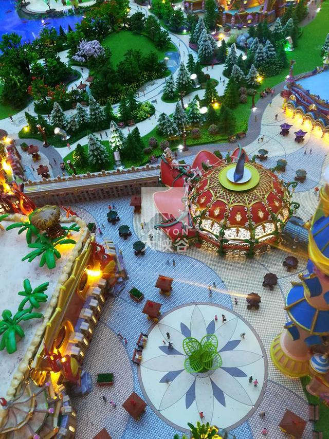 苏州恒大童世界乐园3d打印沙盘模型
