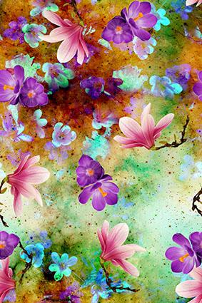 炫彩妖艳底植物花卉