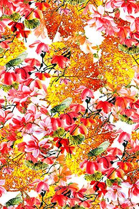 怀旧枫叶溢彩娇媚花环