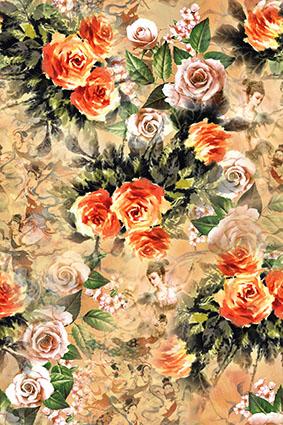 仙女飘溢复古花卉
